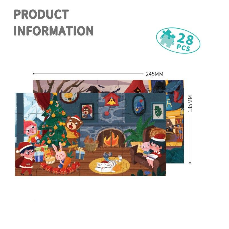 28 шт./лот 3D пазл, игрушки, Обучающие пазлы, Детские Мультяшные пазлы, детские развивающие игрушки для детей, подарки для обучения