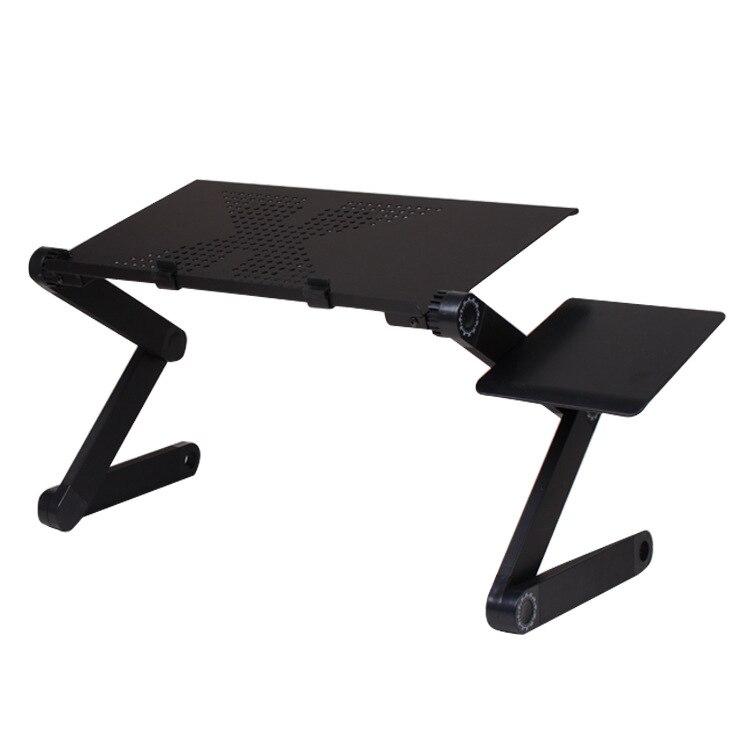 JOYLIVE Портативный Регулируемый складной компьютерный стол, для ноутбука, ноутбука, компьютера, складной стол, вентилируемый, для кровати