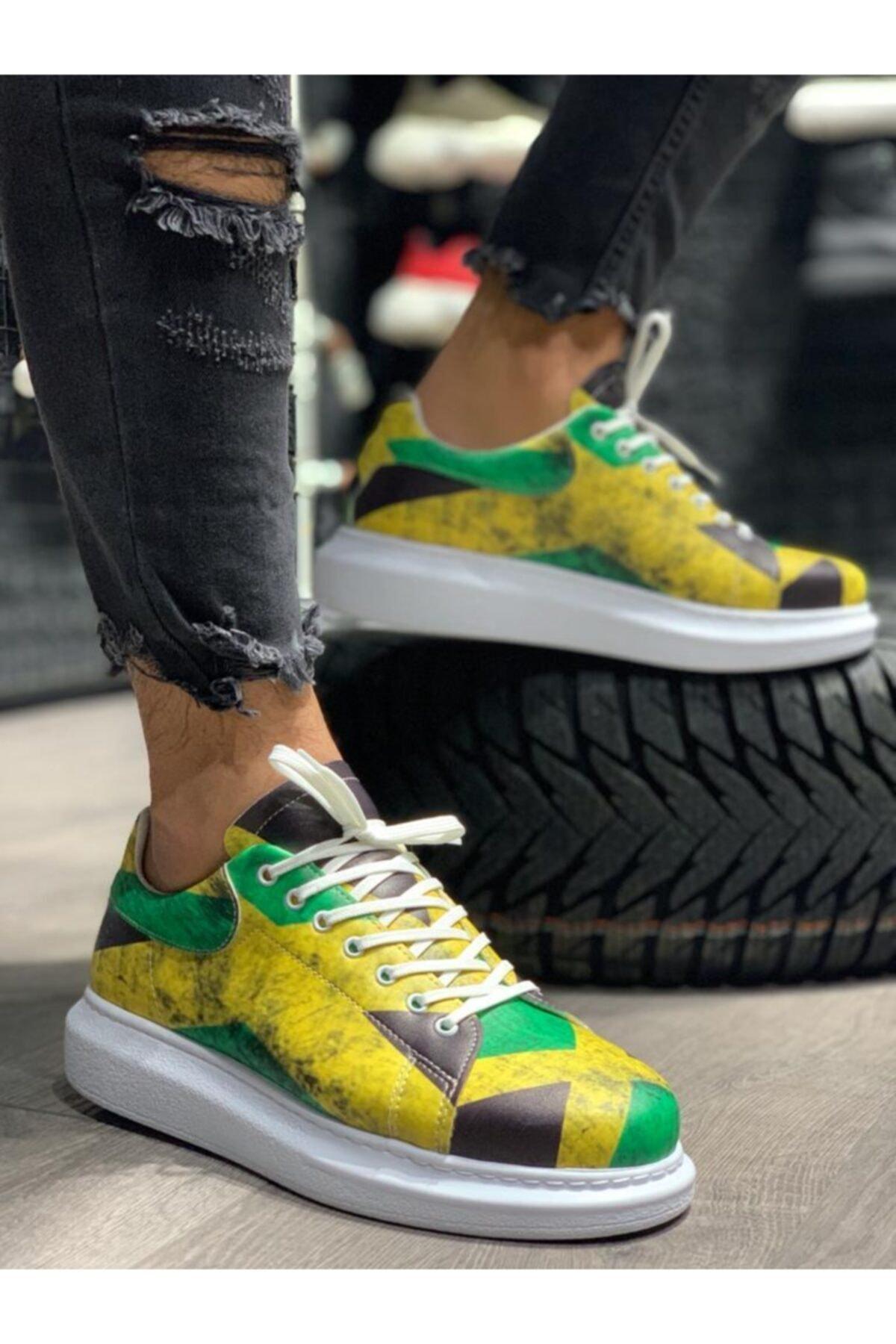 حذاء رياضي بطبعة رقمية للرجال من جامايكا ، حذاء رياضي خفيف الوزن ، عصري ، 2021