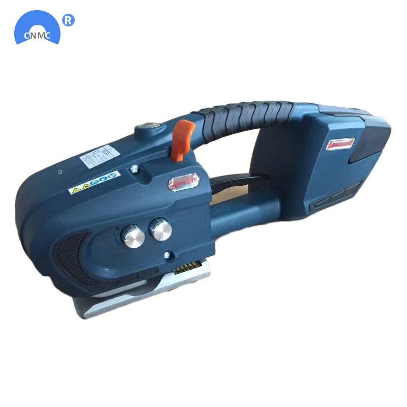 Dos herramientas de flejado PP de PET alimentadas por batería 13mm-16mm para máquina de envolver palés herramienta de flejado eléctrico