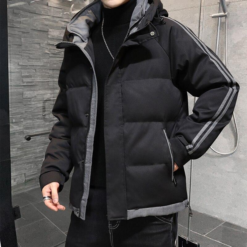 Мужская зимняя куртка, новая хлопковая куртка, Корейская версия, трендовая короткая пуховая куртка, толстая хлопковая куртка, Мужская ветро...