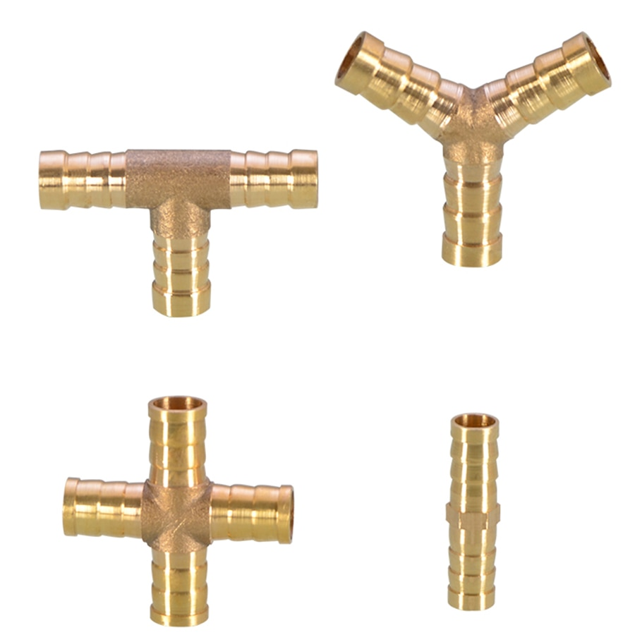 1PCS Brass Barb Pipe Fitting 2 3 4 way connector For 4mm 6mm 8mm 10mm 12mm 14mm 16mm 19mm hose copper Pagoda Gas fittings