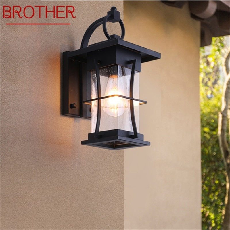 BROTHER New Outdoor Wall Light Classical LED Sconces Lamp Waterproof IP65 Decorative For Home Porch Villa