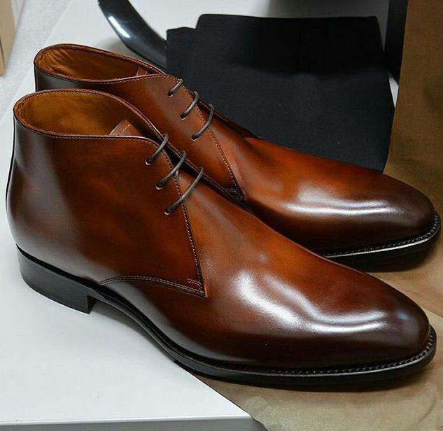Men PU Leather Fashion Shoes Low Heel Fringe Shoes Dress Shoes Brogue Shoes Spring Boots Vintage Classic Male Casual AP016