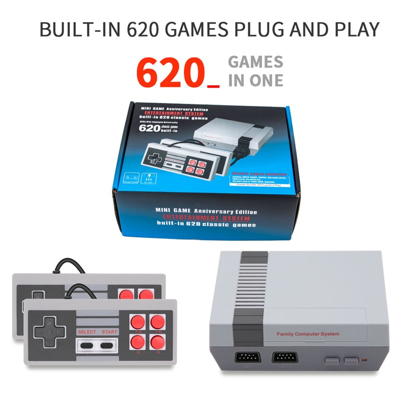 Handheld Retro Video Game Console Mini Game console Built-in Classic 620 Games for TV AV Output NTSC/PAL Employed Universally
