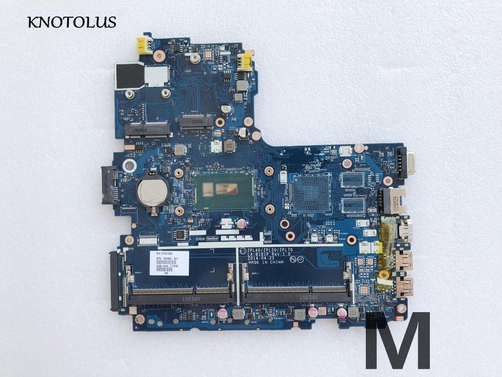 Alta calidad 798495-001 798495-501, 798495-601 placa base para HP 450-G2 440 G2 placa base de computadora portátil LA-B181P SR23Y I5-5200U