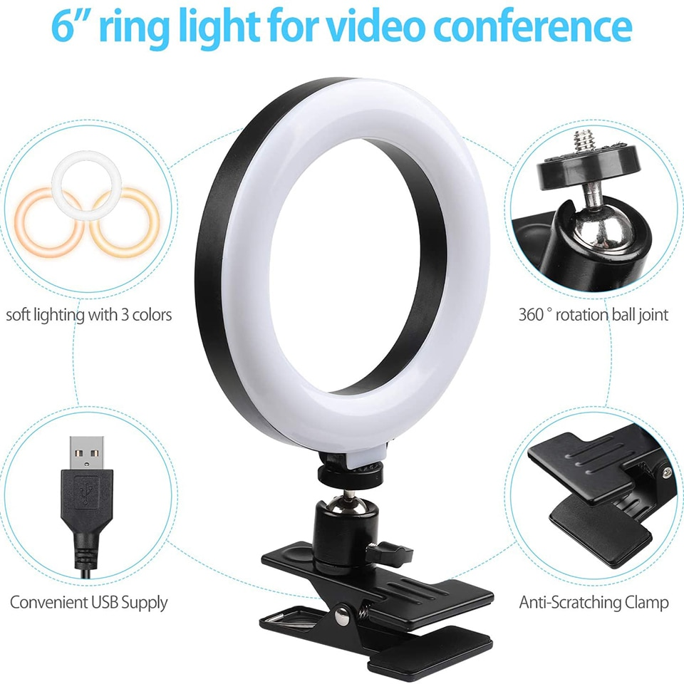 6/10in Ring Light With Tripod Led Protable Photography Lighting Selfie Fill Ringlight Photo Lamp Phone Stand For Youtube Video enlarge