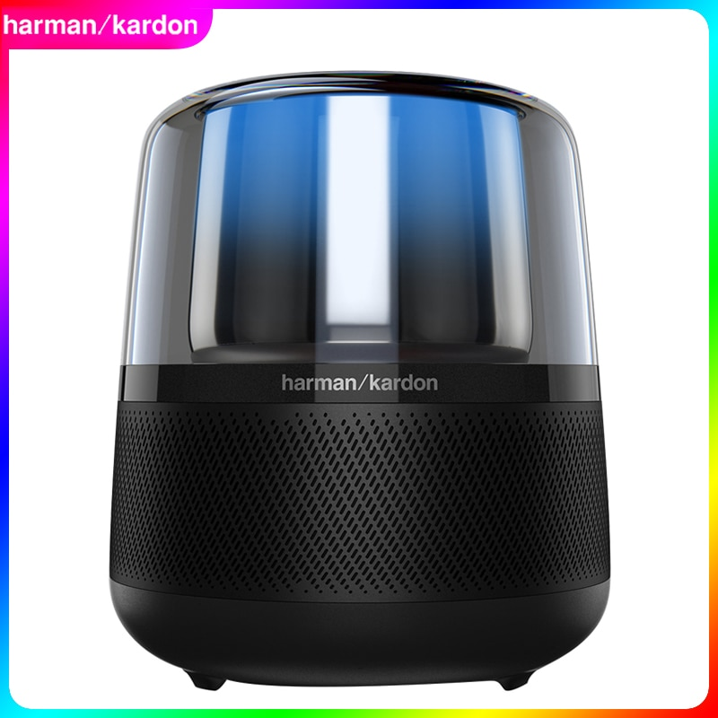 Harman Kardon Allure سمّاعات بلوتوث مفعّلة بصوت مع ضوء صوت 360 درجة لاسلكيّ باس سماعات مكبر صوت يدوي
