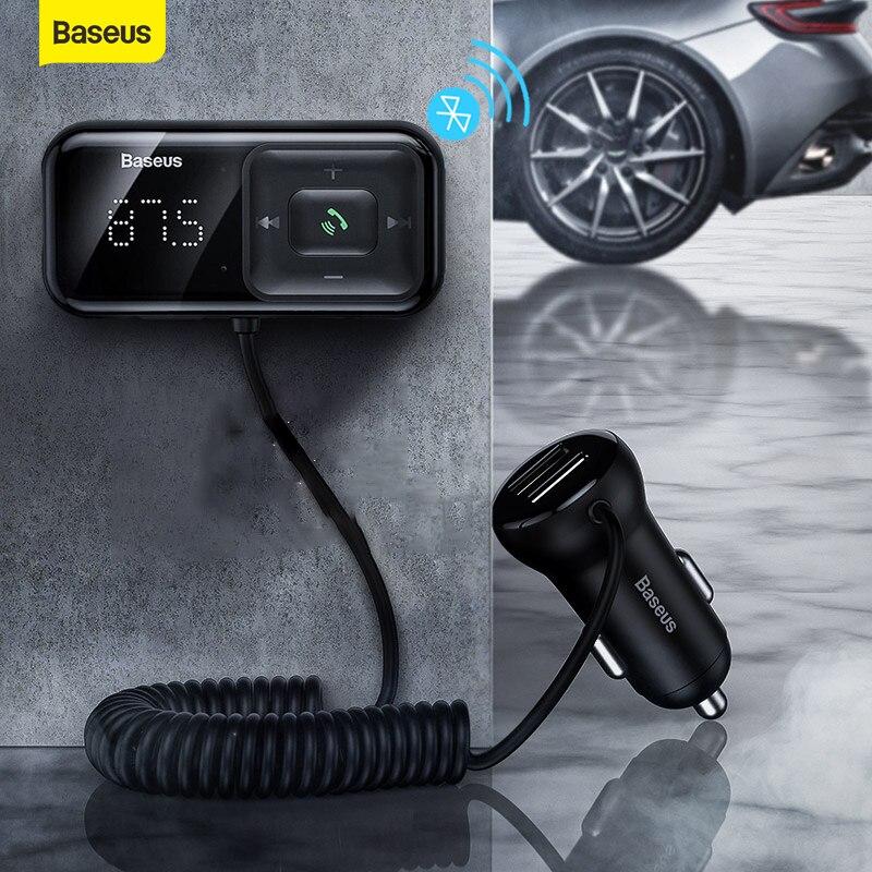 Baseus Auto Fm Transmitter Bluetooth 5,0 Mp3 Player Radio modulator Adapter 3,1 EINE USB Auto Ladegerät Car Kit Wireless aux