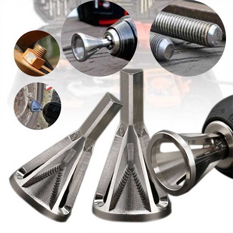 ZK30 2020 Newest Deburring External Chamfer Tool Stainless Steel Remove Burr Tools for Metal Drilling Tool Repair Damaged Bolt