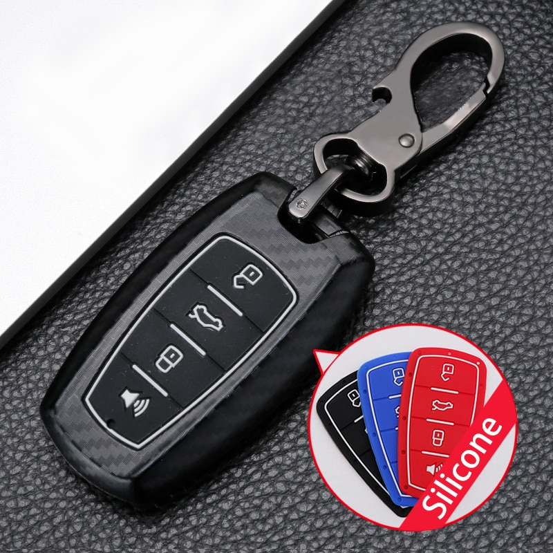 ABS Carbon fiber Car Remote Key Cover Case For Haval F7 F7X Coupe H6 H7 H9 GMW H2 H2s 2019 2020 Smart Fob Protect Shell
