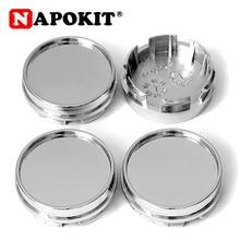 4pcs/lot 59mm/58mm (58.5mm) Plastic Chrome Silver Auto Car Hub Cap for 50mm 51mm Flat Logo Emblem Badge Sticker Wheel Rim Cover