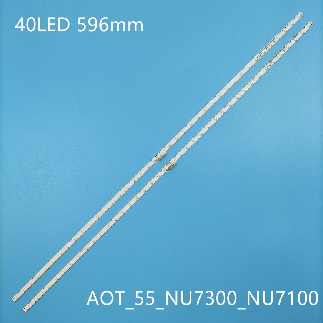 100% New 2pcs/Kit LED strips for SAMSUNG TV UE55NU7452U UE55NU7100K UE55NU7170S UE55NU7140U UE55NU7400S UE55NU7099U UE55NU7402U