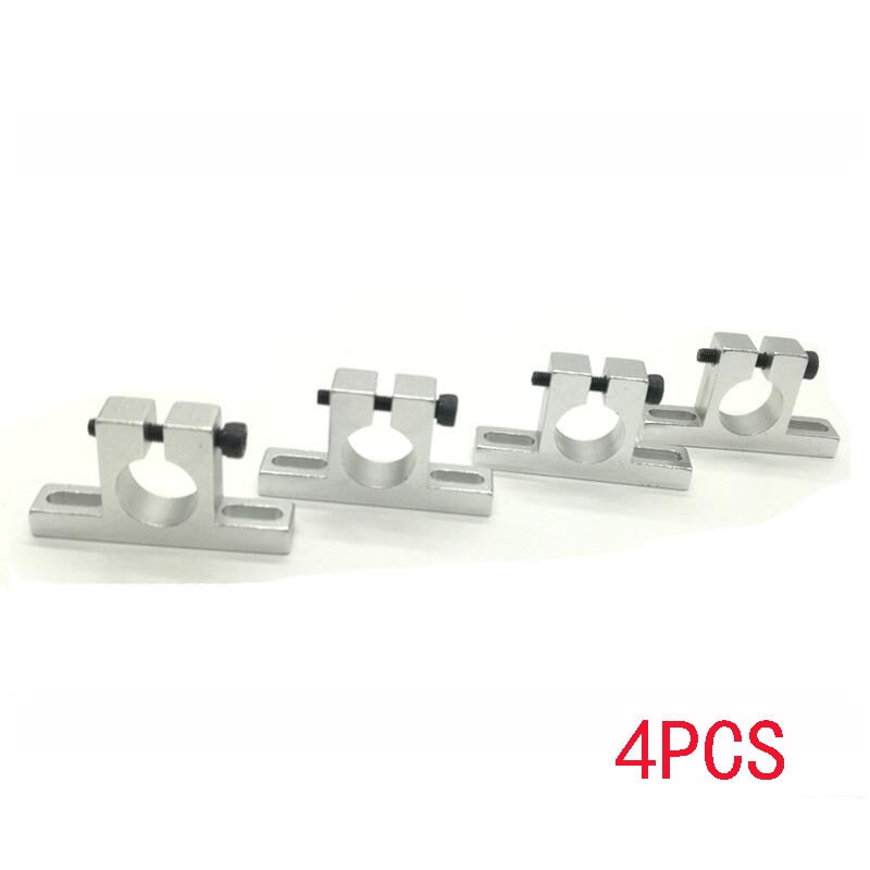 4pcs T Aluminium Alloy Pipe Clamp Motor Mount for Quad&HexaCopter 12mm  / 14mm Carbon fiber tube