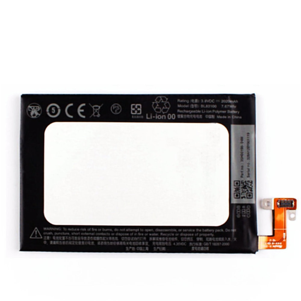Original BL83100 de 2020mah de la batería 3.8vdc 7.67wh para HTC mariposa X920e Droid DNA Deluxe DLX una X5 THL21 baterías