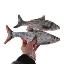 Jumbo 30cm Fish Dog Toys  Plush Stuffed Fish Shape Cat Toys Scratch Board Scratching Phone Straps Funny Kawaii Squishy