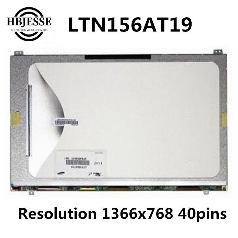 Para Samsung NP300E5A NP300V5A NP305V5A LCD pantalla LTN156AT19-001 LTN156AT19 LCD matriz pantalla delgada 1366*768 40 pines