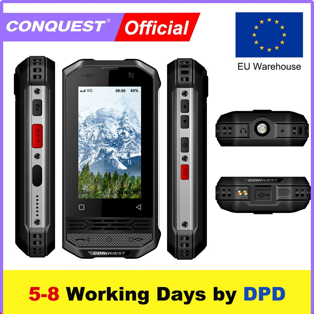 Supper Mini CONQUEST F2 IP68 Shockproof Waterproof Rugged Smartphone Android NFC Mobile Phones Cell Smart Phone Mobile Phones