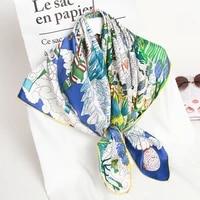 100 pure square silk neckerchief 2021 hangzhou silk kerchief wraps for ladies printed bandana real silk square neck scarf hijab