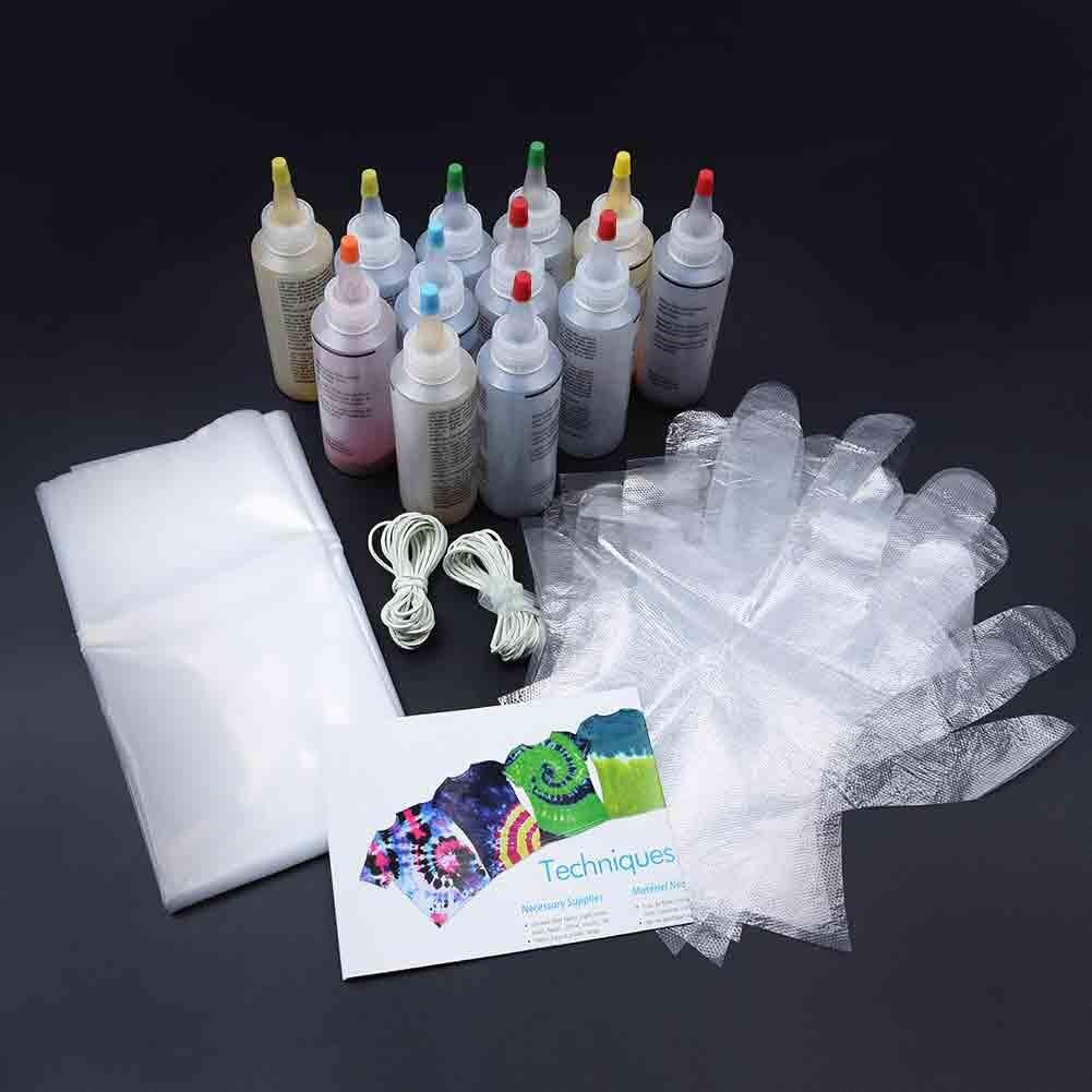 120ml Tie Dye Kit no tóxico DIY ropa Graffiti tela One Step pinturas textiles