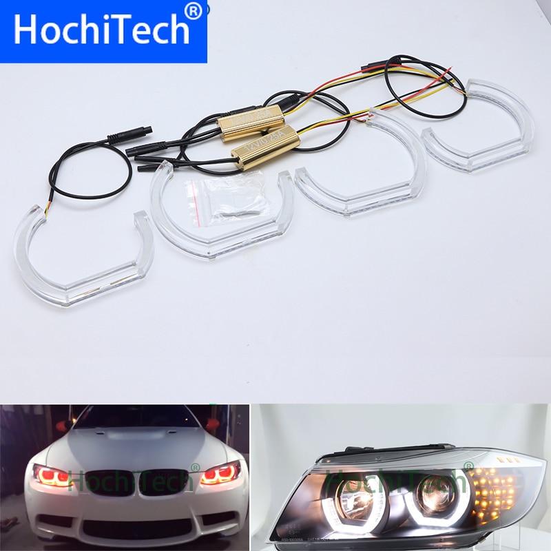 Para BMW E36 3 Series Coupe y Cabriolet DTM M4 estilo LED Kit de ojo de Ángel Dual blanco ámbar luz indicadora de giro