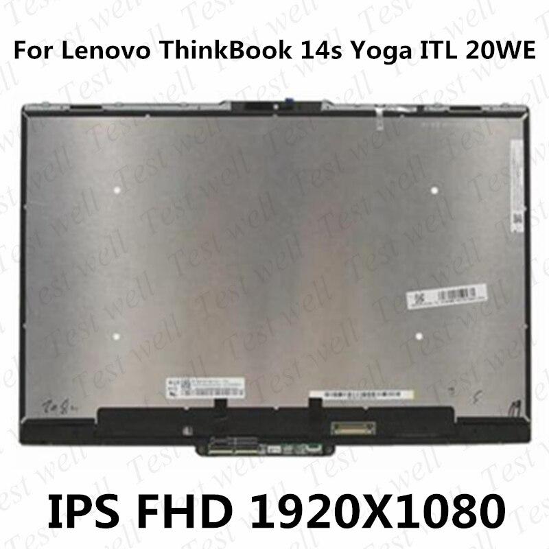 الأصلي 14 ''FHD لينوفو ثينك بوك 14s اليوغا ITL 20WE 5D10S39686 LCD تعمل باللمس محول الأرقام استبدال الجمعية مع الإطار