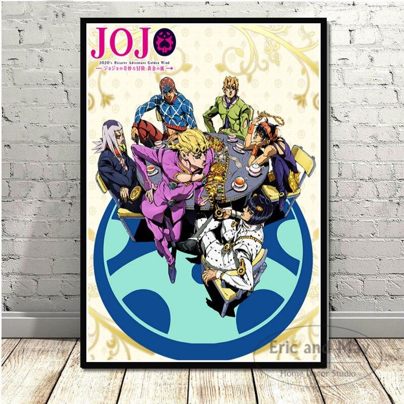 Jojo s aventura bizarra do anime japonês, arte na parede, posteres e impressões, pintura em tela para o quarto, decoração de casa