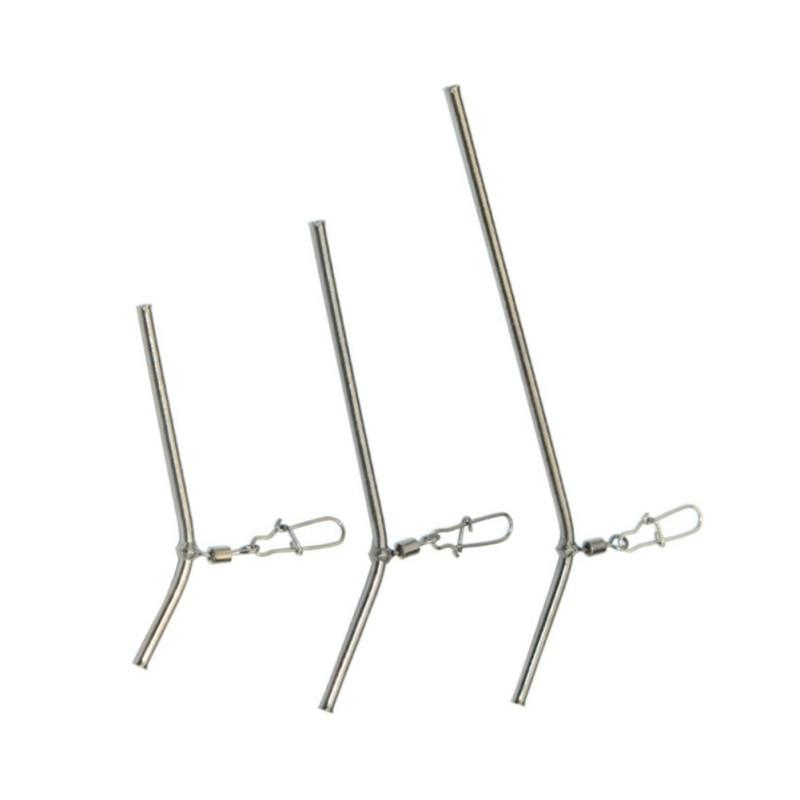 5 uds/1 Juego de conector de equilibrio de tubo de cobre pequeño 5/7/9CM aparejos de pesca antienredos accesorios de pesca en el mar