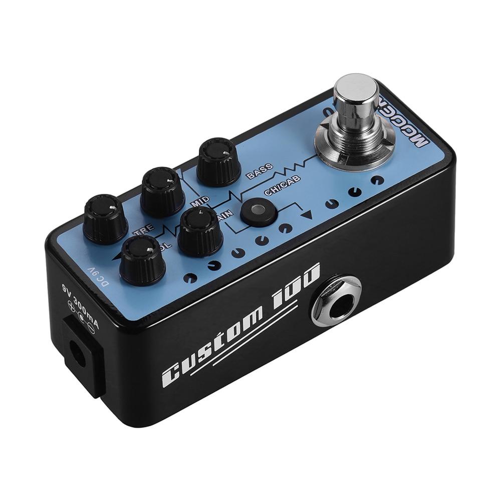 Mooer 018 Custom 100 Digital Preamp Guitar Effect Pedal Cabinet Simulation Dual Channels 3-Band Cabinet Simulation enlarge
