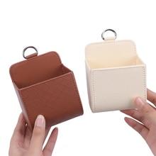 1PC Car Storage Bag Air Vent Dashboard Tidy Hanging Leather Organizer Box Glasses Phone Holder Stora