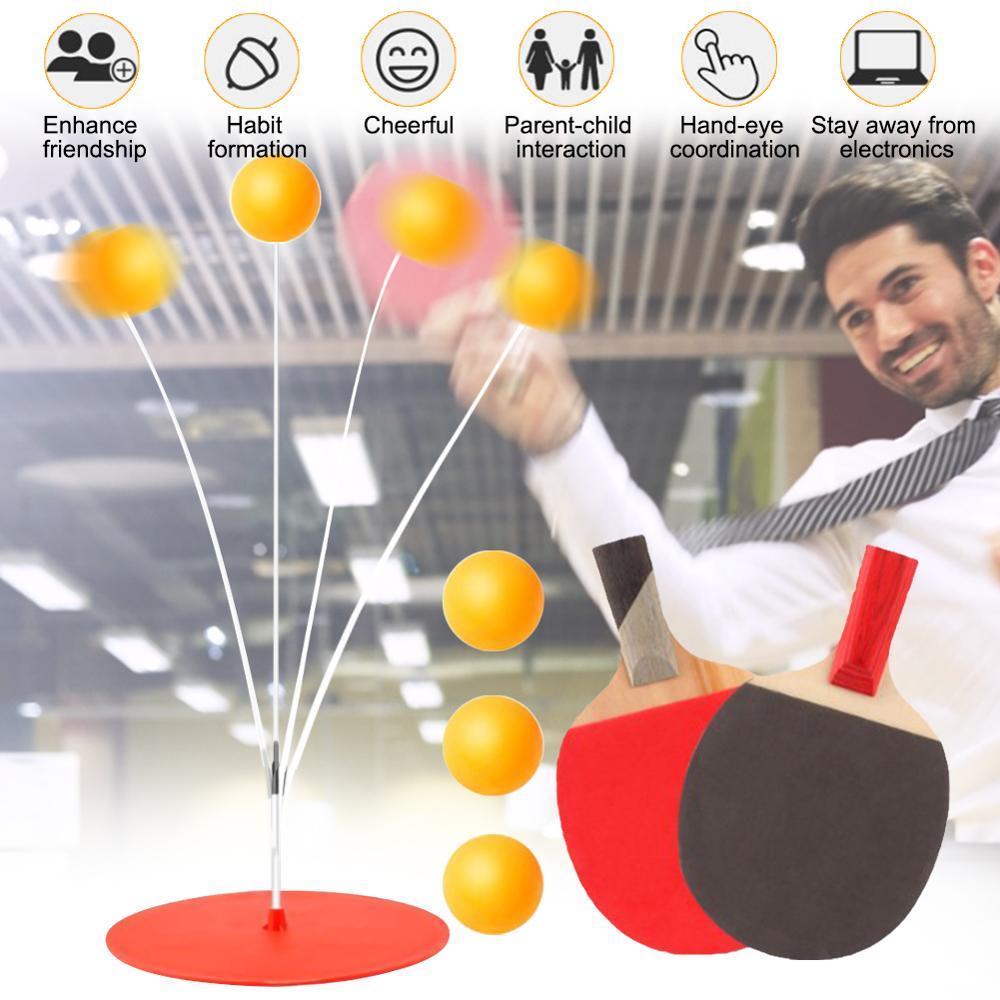 portable table tennis trainer table tennis soft shaft training machine elasticity kid adult ping pong practice trainer Table Tennis Trainer Portable Ping Pong Training Tool Soft Shaft Professional Practice Trainer Self-study Machine Home Exercise