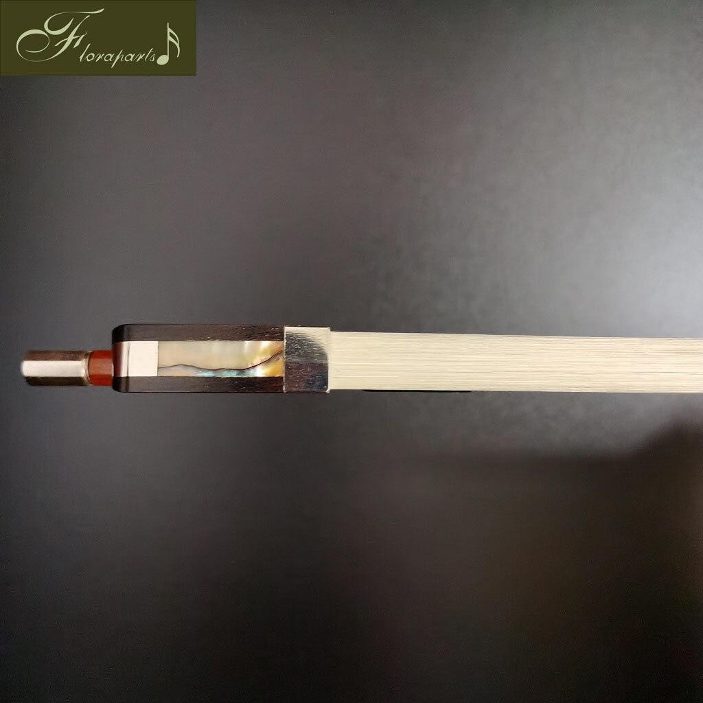 Floraparts 4/4 Size Cello Bow Pernambuco Round Stick Ebony Blank Frog Silver Parts FPZ021 enlarge