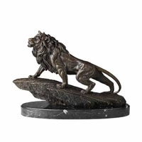 bronze sculpture lion king formidable statue wild animal lions art home office decoration business gifts