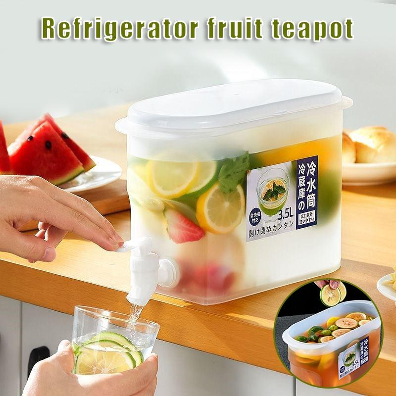المشروبات موزع غلاية الباردة مع قفل المشبك شرب موزع قابلة لإعادة الاستخدام الفاكهة المشروبات حوض المنزلية 3.5L LBE