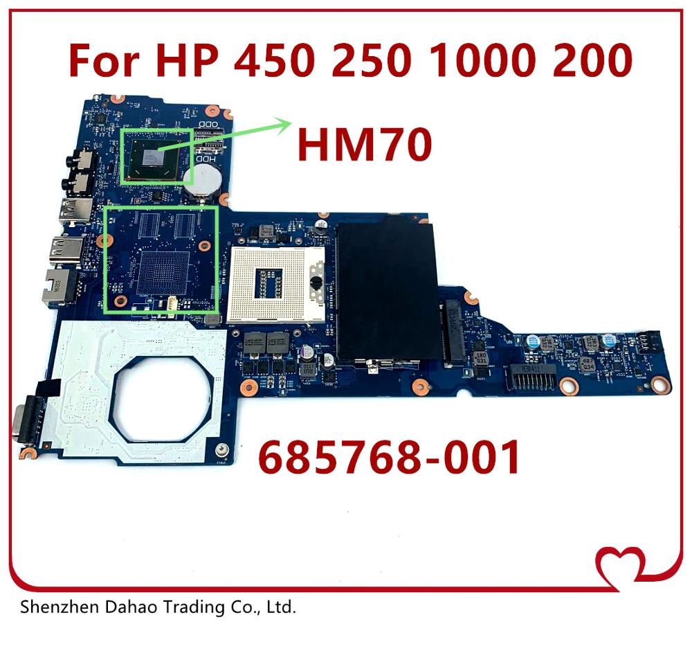 6050A2493101-MB-A02 Laptop Motherboard Para HP 450 250 1000 2000 HM70 Mainboard 685768-DDR3 001 685768-601 685768-501 100% Testado