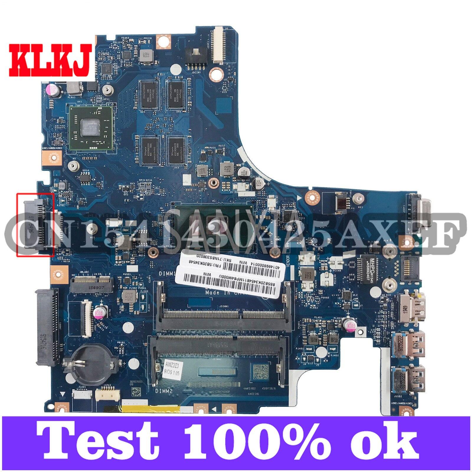 KLKJ LA-C851P اللوحة الأم لأجهزة الكمبيوتر المحمول لينوفو Ideapad 500-14ISK I7-6500U اللوحة الرئيسية الأصلية مع بطاقة الفيديو