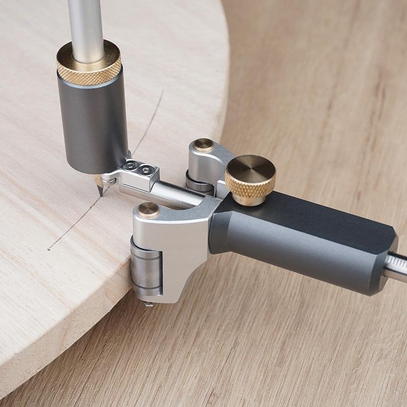 النجارة الخطي قوس ثنائي الغرض سكريبر حاكم خط مواز رسم قياس قياس DIY بها بنفسك الخشب سكريب أداة