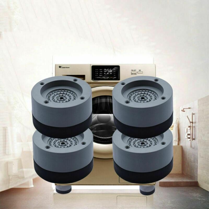 4Pcs Anti Vibration Feet Pads Washing Machine Rubber Mat Anti-Vibration Pad Dryer Universal Fixed Non-Slip Pad prusa i3 mk3 kit 3d printer anti vibration rubber landing mat feet antivibration feet for 3030 extrusion
