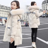 winter womens down jacket 2020 new cold proof white duck down outerwear abrigo mujer casual natural fur collar parka overcoat