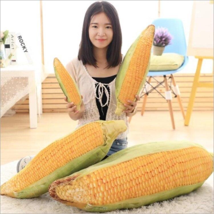 30-75cm animado maíz mazorca frutas verduras comida Anti-estrés almohada cojín creativo felpa Niña hobby niños juguete para regalo