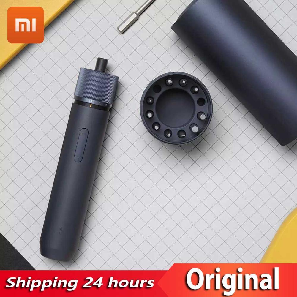 مفك كهربائي Xiaomi mijia HOTO, مفك كهربائي بمقبض مستقيم ، يحتوي على 12 بت ، قابل لإعادة الشحن ، مفك كهربائي عالي الجودة محمول