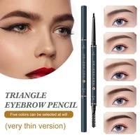 eyebrow pencil ultra fine eyebrow pen waterproof smudge proof long lasting eye makeup brow definer for women 5 colors shipping