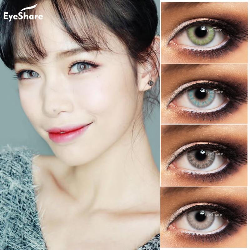 EYESHARE 2 шт. пара стеклянных шариковых контактных линз ed, косметические контактные линзы естественного цвета