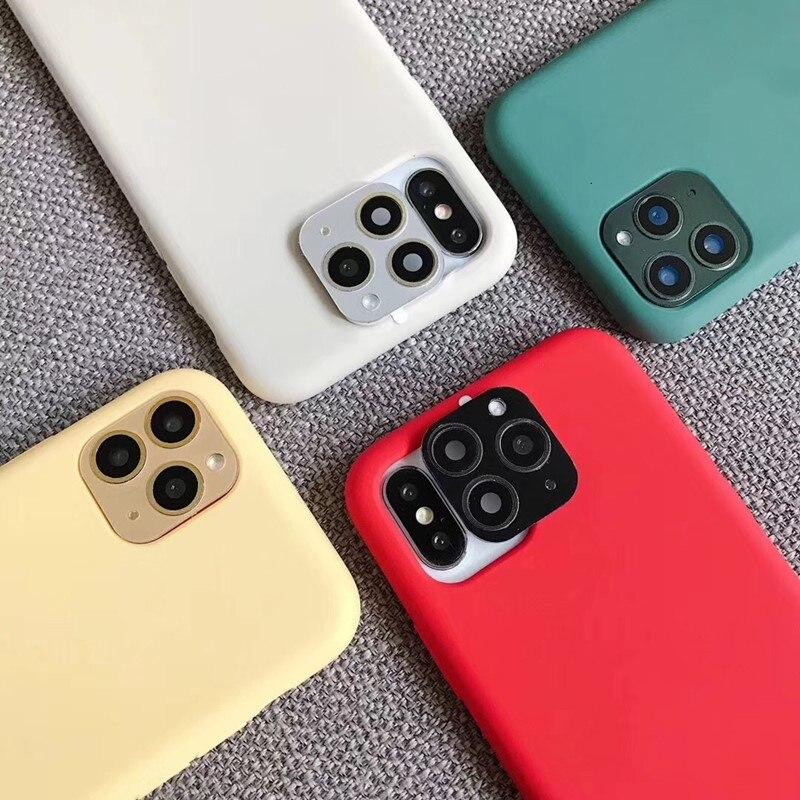 Lente falsa Cámara pegatina Metal aluminio Cámara protectora para iPhone X XS MAX Seconds cambio para iPhone 11 Pro Max Cámara cubierta