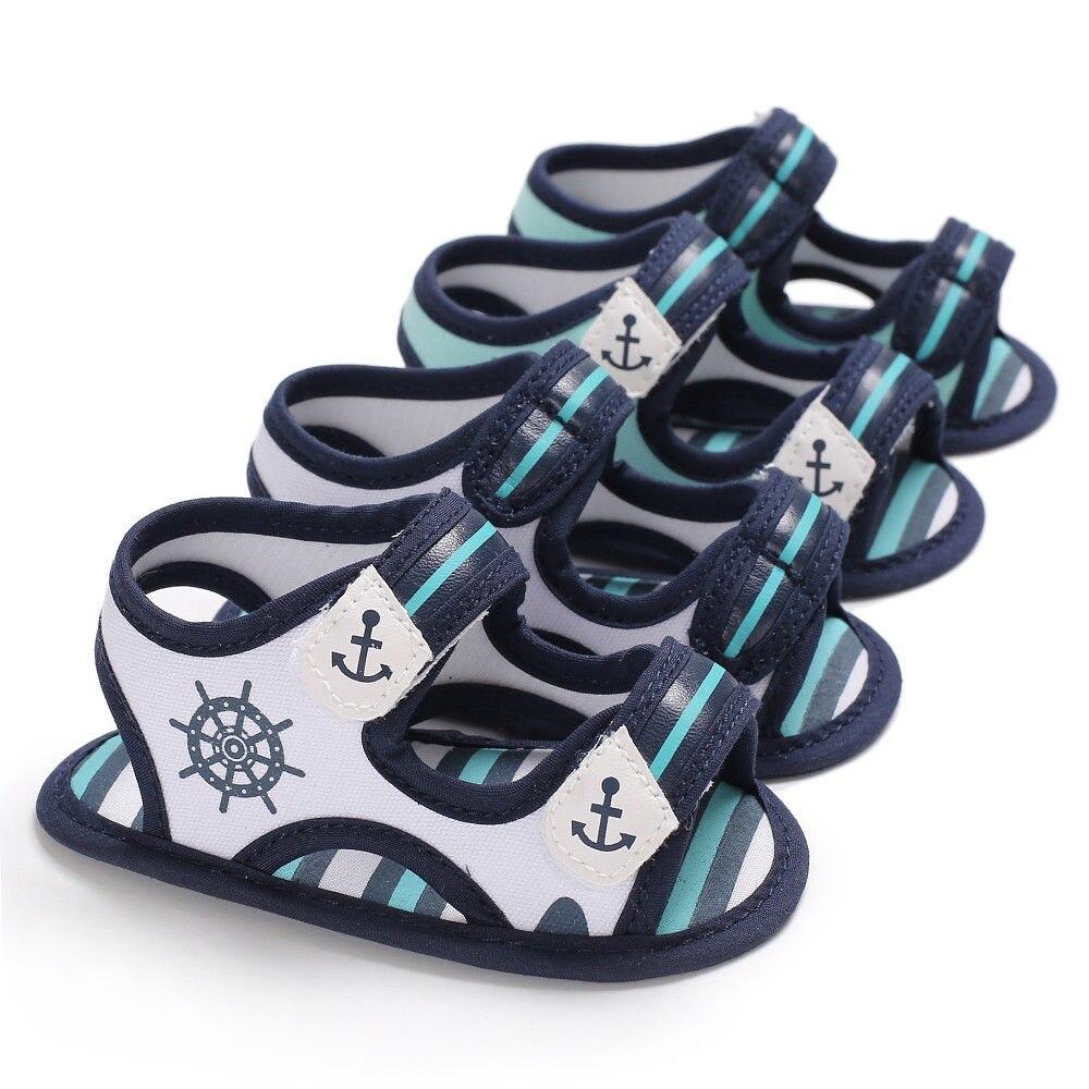 Novo verão infantil menino legal sandálias de lona crianças do bebê menino sandálias macio da criança sapatos