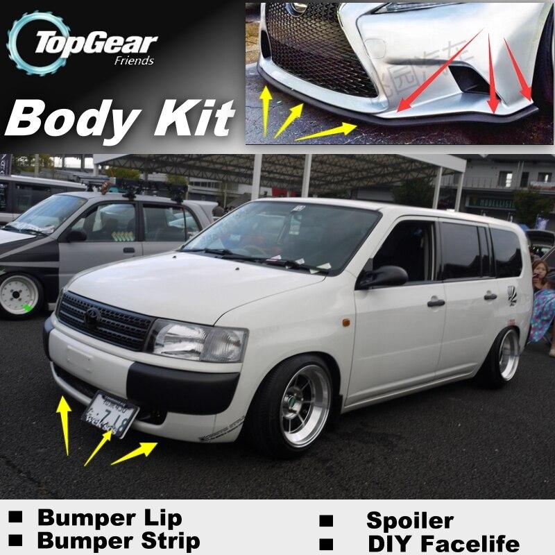 Para TOYOTA Probox Pro Box 2002 ~ 2016 parachoques labio/alerón delantero Deflector para TG Fans Personalización de automóviles/Top Gear kit de carrocería/falda de tira
