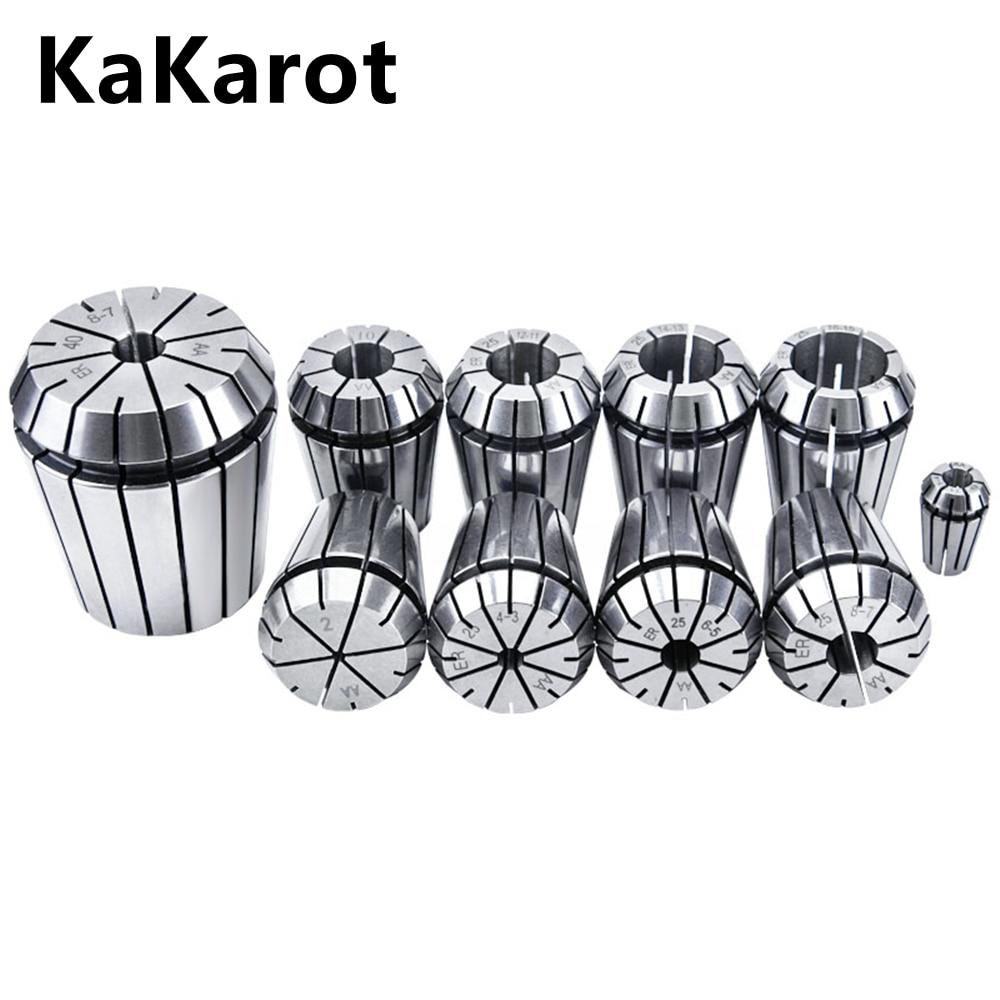 KaKarot ER Collet Chuck ER25 ER32 0.008 For CNC Milling Tool Holder Engraving Machine Lathe Mill Spr