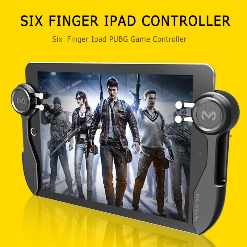 Black PUGB Mobile Game Controller PUBG Mobile Joystick Gamepad Metal L1R1 Shooter Joystick For IOS Android Mobile Phone
