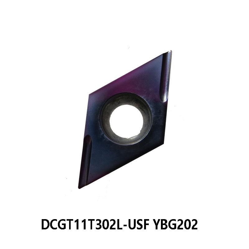 Inserções de Carboneto de Corte para Ferramentas de Torneamento Original L-usf Dcgt 11t302 Universal Torno Cortador Dcgt11t302l-usf Ybg202 Dcgt11t302