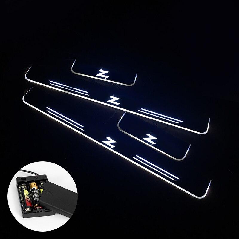 Umbral de puerta LED AOGENIU para ASTON MARTIN ZAGATO Vantage 2012-2020, placa de desgaste de puerta de fuente OEM, accesorio de umbral de Pedal para coche